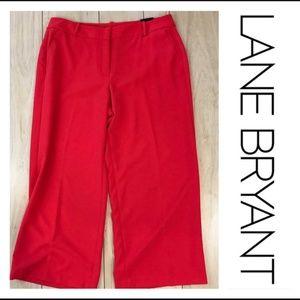 NWT Lane Bryant Coral Pink Wide Leg Trouser